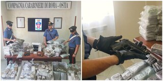 Ostia, maxi operazione antidroga sul litorale: sequestrate armi e 130 chili di marijuana