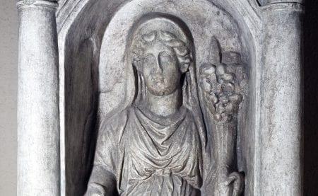 Raffigurazione della dea Fortuna conservata al Museo Della Civiltà Romana.