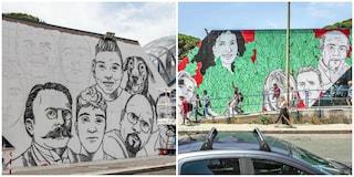 Ostia, il M5s fa cancellare i volti di Angeli e Bortuzzo dal murales antimafia ed esulta CasaPound