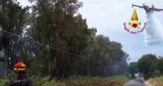 Grosso incendio scoppia all'interno del Parco Nazionale del Circeo