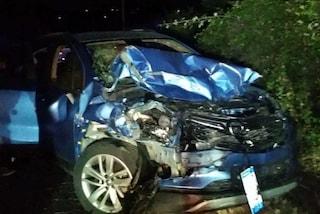 Incidente stradale a Lanuvio: auto si ribalta e travolge un altro veicolo, tre feriti gravi