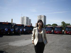 Virginia Raggi presenta i nuovi bus Atac