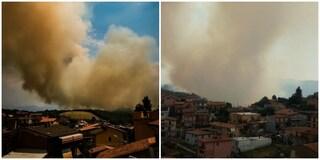 Incendio su Monte Fiore assedia Rocca Priora. Canadair in azione, chiusa via Tuscolana