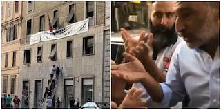 """Sgombero CasaPound, Raggi vs i militanti di estrema destra: """"Lei mi sta minacciando?"""""""