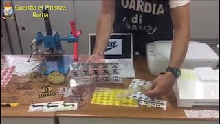 Roma, sequestrati 75mila prodotti contraffatti: scoperti anche tre laboratori di produzione