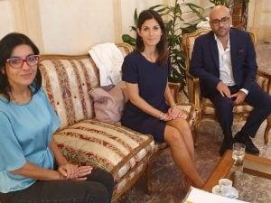 Virginia Raggi incontra la nuova ministra della Pubblica Amministrazione Fabiana Dadone