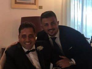 Andrea Varriale e Mario Cerciello Rega al matrimonio del carabiniere ucciso