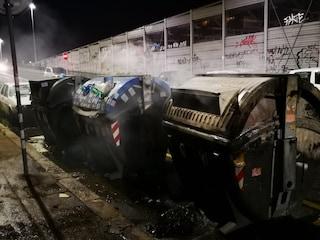 Roma, cassonetti in fiamme nella notte in via Circonvallazione Nomentana: arrestato piromane