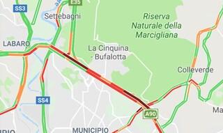 Roma, incidente sul Raccordo: traffico paralizzato tra Salaria e Bufalotta