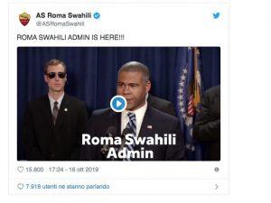 L'account in swahili della Roma su Twitter