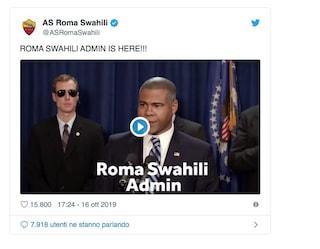 La Roma lancia un account in lingua swahili: su Twitter è un successo, migliaia di like e follower
