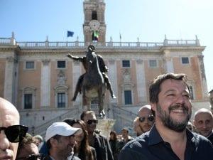 Matteo Salvini in Campidoglio
