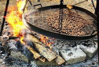 Festa della Castagna di Vallerano: a ottobre e novembre si mangia in cantine scavate a mano nel tufo