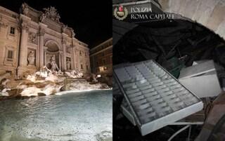 Vergogna a Roma, c'è una discarica tra i resti archeologici sotto la Fontana di Trevi
