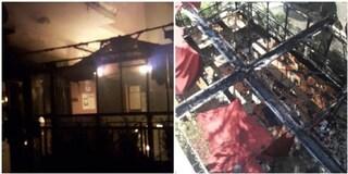 Incendio a Centocelle: fiamme distruggono un ristorante, evacuato un palazzo