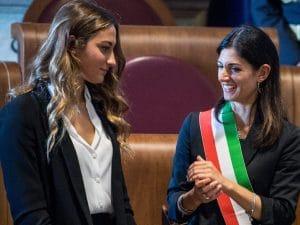 Simona Quadarella e Virginia Raggi