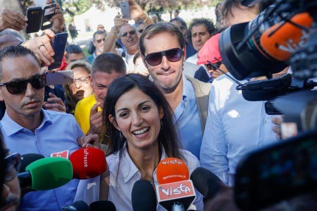 La sindaca di Roma Virginia Raggi a Italia 5 stelle