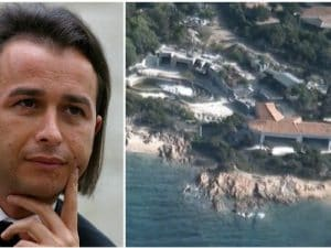 Panoramica della villa sequestrata a Danilo Coppola in Costa Smeralda
