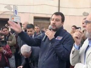 Matteo Salvini a Civitavecchia – foto Facebook