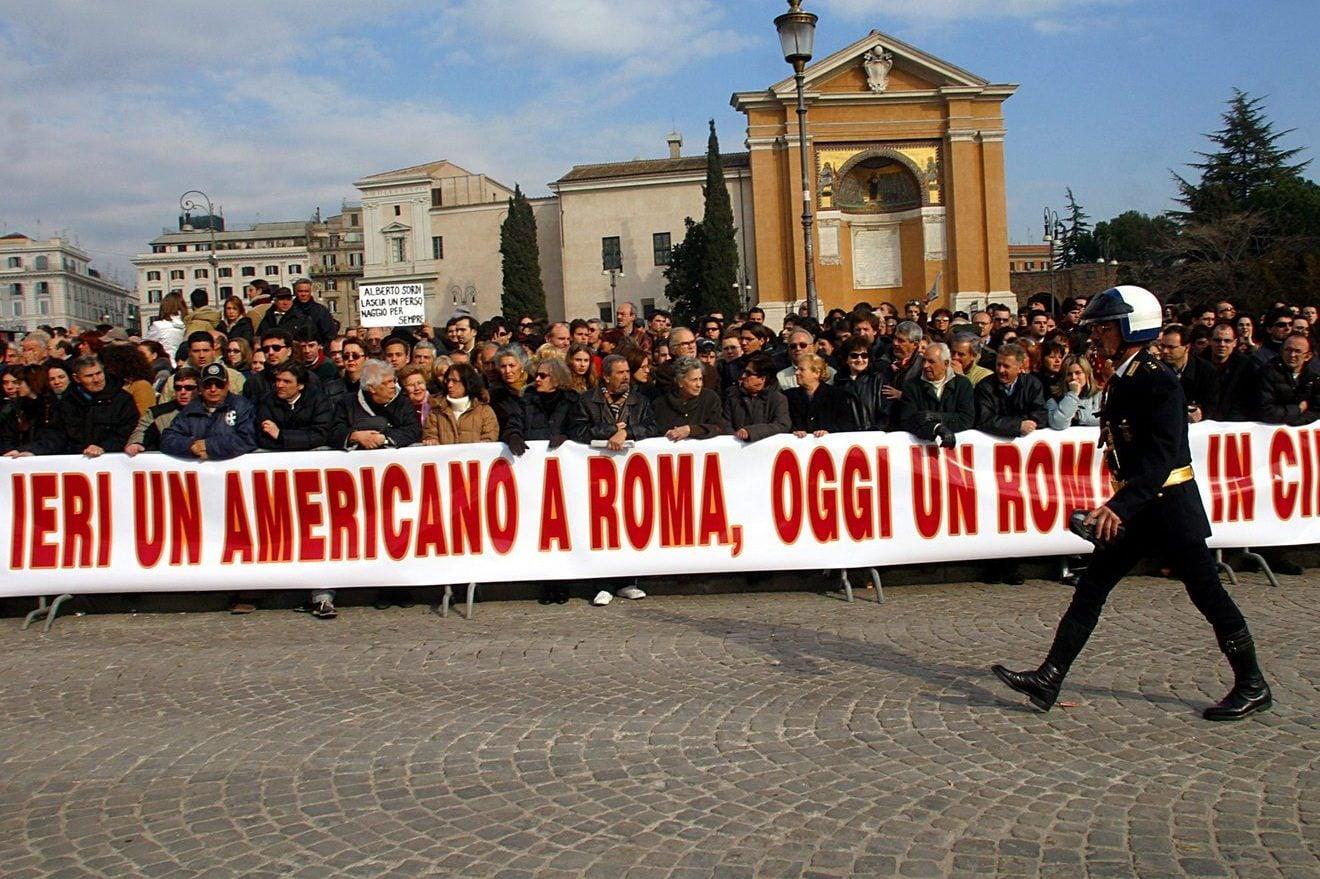 Funerali di Alberto Sordi a Roma (foto LaPresse)