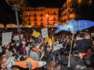 Manifestazione delle Sardine a Palermo