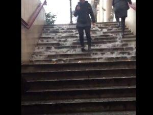 Metro Flaminio allagata – foto Twitter