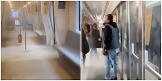 Metro C, donna apre un estintore a bordo: panico tra i passeggeri