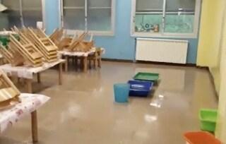 Chiusa la scuola dell'Infanzia Il Giardino delle Idee: allagata con la pioggia
