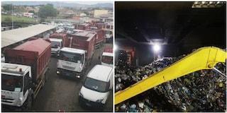 Tmb di Rocca Cencia al collasso: camion e impianto strapieno di rifiuti