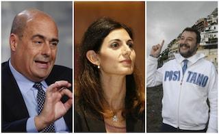 """Rifiuti, Salvini: """"Siamo alle letterine, darò l'anima per mandare via Raggi e Zingaretti"""""""