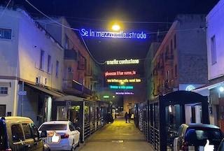 """A Latina le luminarie di Natale con i versi di Calcutta: """"Se piovesse il tuo nome..."""""""