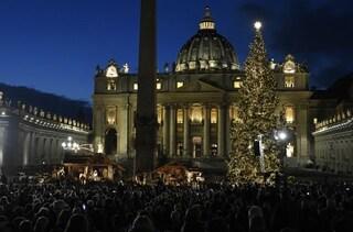 Natale a Roma, ecco l'albero e il presepe di piazza San Pietro
