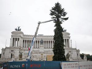 Spelacchio arrivato a piazza Venezia