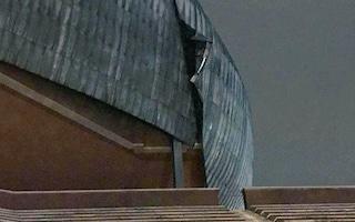 Allerta meteo Roma, danneggiata la cupola dell'Auditorium Parco della Musica