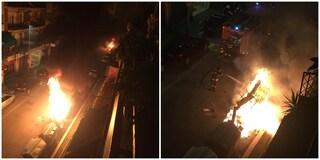 Casal Bruciato, incendio in via Olindo Malagodi: a fuoco un cassonetto, forse ennesimo atto doloso