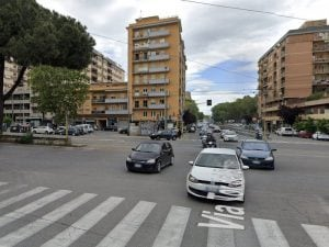 L'incrocio tra via Prenestina e via Tor de' Schiavi (Google Maps)