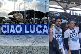 La famiglia di Luca Sacchi a vedere la Lazio: fiori da Immobile e applausi da tutto lo stadio