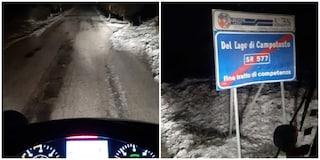 Neve a Rieti, strade imbiancate e mezzi spargisale in azione: in arrivo piogge e temporali