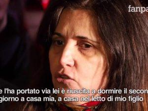 La mamma di Luca Sacchi
