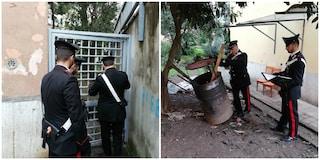 San Basilio, cancelli di ferro per bloccare i carabinieri e barili per distruggere la droga