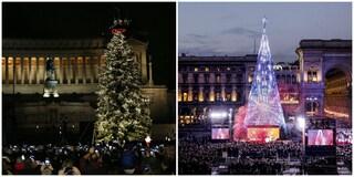 """Spelacchio vs Ferracchio, derby alberi di Natale. Sgarbi: """"Quello di Milano sta bene al luna park"""""""