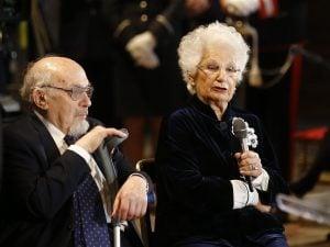 Piero Terracina e Liliana Segre