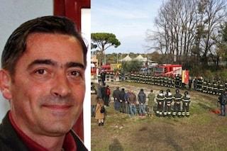 La commemorazione di Stefano Colasanti, pompiere eroe morto nell'esplosione di un'autobotte a Rieti