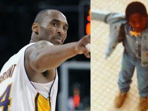 A destra Kobe Bryant da piccolo