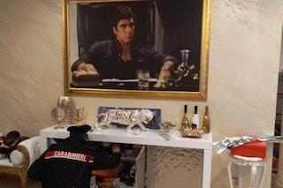 Operazione antidroga a Roma, 13 arresti: in casa del capo della banda il quadro di Scarface