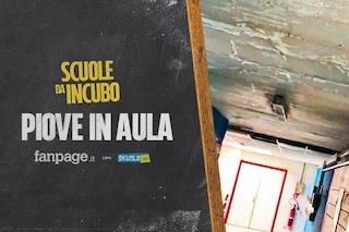 """Pioggia nelle aule e soffitti crollati, gli studenti del Volta: """"Servono fondi per l'edilizia"""""""