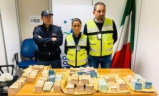 Aeroporto di Fiumicino, tre milioni di euro nascosti nel trolley: erano diretti in Cina