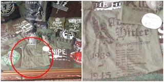 Roma, a due passi da Termini un negozio mette in vetrina una maglietta con Adolf Hitler