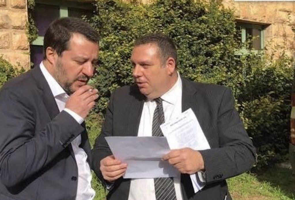 Angelo Pavoncello e Matteo Salvini