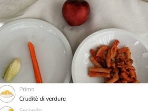 Menu vegetariano a mensa
